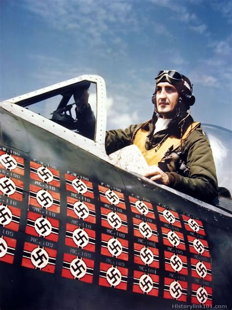The Greatest American Pilot Color Pictures Of World War Ii Pilots Royalty Free