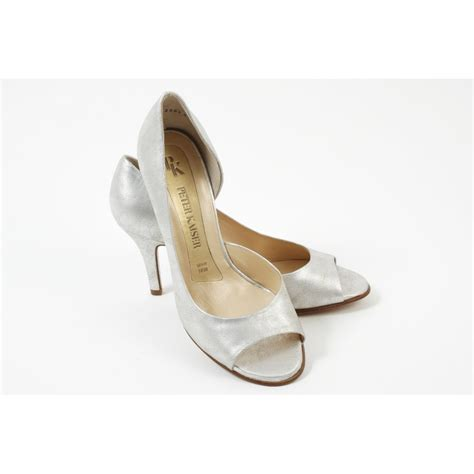 evening slippers kaiser saffa silver evening shoes new season in stock