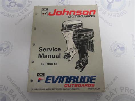 johnson buitenboordmotor handleiding 508283 evinrude johnson outboard service manual quot et quot 40 55