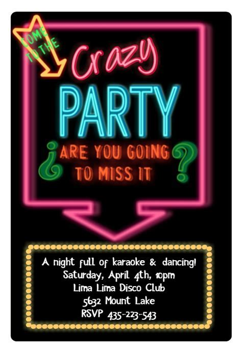 Disco Party Invitation Template (Free)   Greetings Island