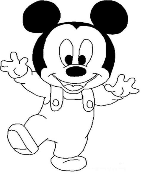 20 sketsa mewarnai gambar kartun mickey mouse yang lucu si gambar