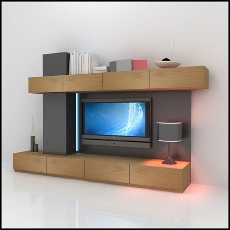 tv wall units tv wall unit modern design x 06 3d models cgtrader com