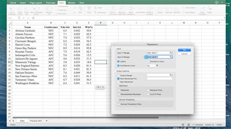 statistical analysis microsoft excel 2016 books how to perform a regression analysis on microsoft excel