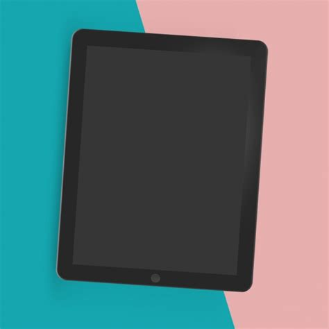 tablet mock up template psd file free download