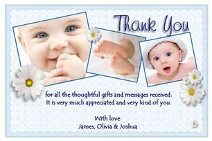 personalised christening thank you cards personalised baptism thank you cards