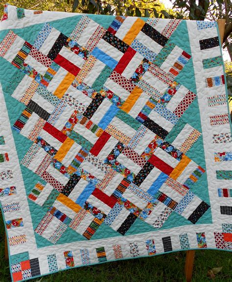 Jelly Roll Patchwork Patterns - jelly roll quilt pattern sticks baby and throw