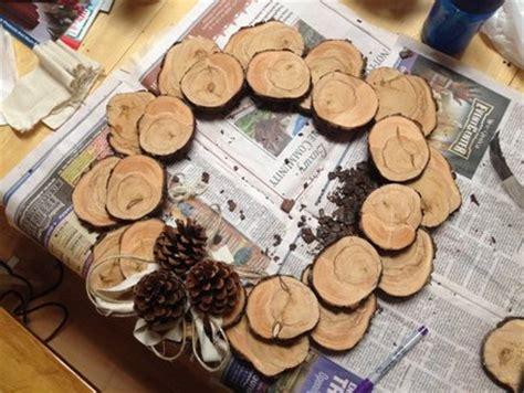 wood slice wreath  cassiet  lumberjockscom