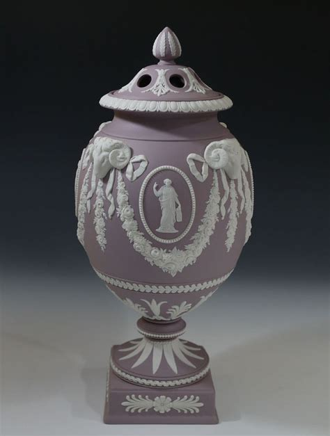 wedgwood jasperware solid lilac potpourri vase urn and cover home vase and the o jays