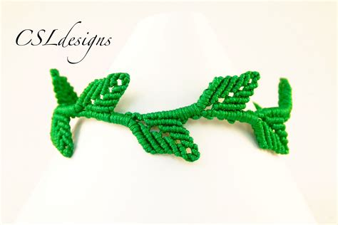 Macrame Bracelet Tutorials - in this tutorial i show you how to make a macrame leaf