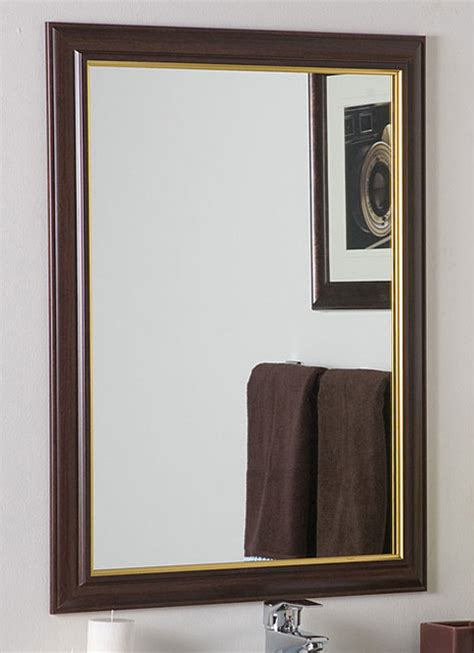 Large Framed Bathroom Mirror Milan Large Framed Wall Mirror Contemporary Bathroom Mirrors By Overstock