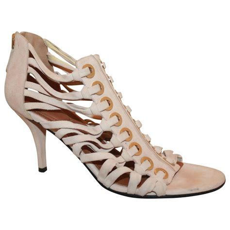 New Givenchy High Heel 3 In 1 1698 3 givenchy pale pink suede strappy heels 8 for sale at 1stdibs