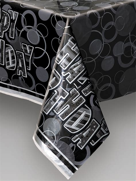 printed plastic table covers black plastic printed table cover novelties