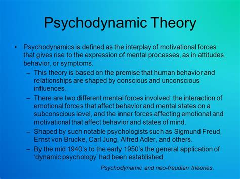 traditional psychology theory list of synonyms and antonyms of the word psychodynamic