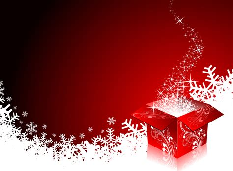 christmas illustration  gift boxes  red background