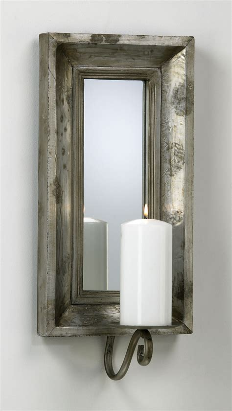 Mirrored Wall Sconce Abelle Candle Mirrored Wall Sconce By Cyan Design