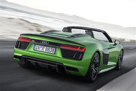 audi r8 price in germany 2018 audi r8 spyder v10 plus drops with 610 horsepower