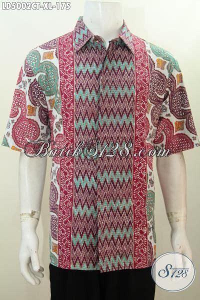 Batik Cowok Dewasa busana batik motif kombinasi baju lengan pendek untuk
