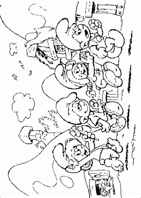 Smurf Coloring Pages For Kids Coloringpagesabc Com Smurf Colouring Pages
