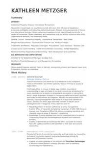7 general counsel cv exle visualcv resume sles