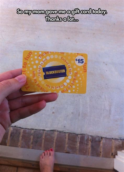 Old Blockbuster Gift Card - she lives in the past