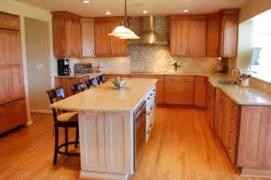marvelous How To Polish Kitchen Cabinets #3: awesome-dream-kitchen-small-u-shaped-kitchen-layouts-with-white-contertop-kitchen-table-and-classic-bar-stool-on-laminate-wooden-floor-also-wood-kitchen-cabinets-915x608.jpg