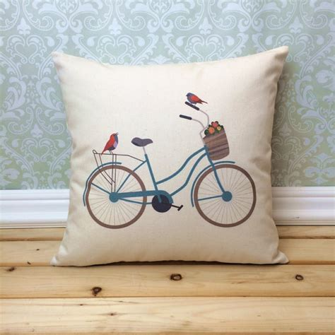 bicycle home decor vintage bicycle pillow illustrated bicycle home decor