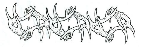 camo armband tattoo deer antler tattoos for men antler armband by joshdixart