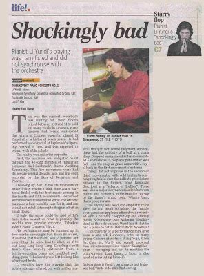 straits times sections pianomania quot starry flop quot pianist li yundi is shockingly