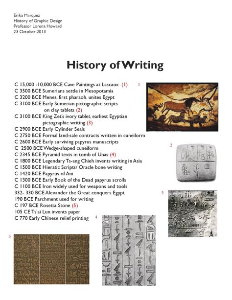 History Of The Essay by Gdes History Writing Timeline Erika Marquez S Design