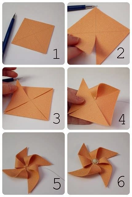 How To Make A Pinwheel With Paper - 1000 ideas about paper windmill on a2