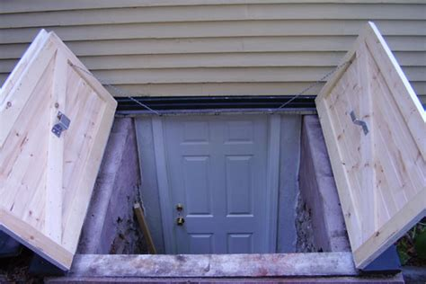 bulkhead doors for exterior backyard basement outdoors