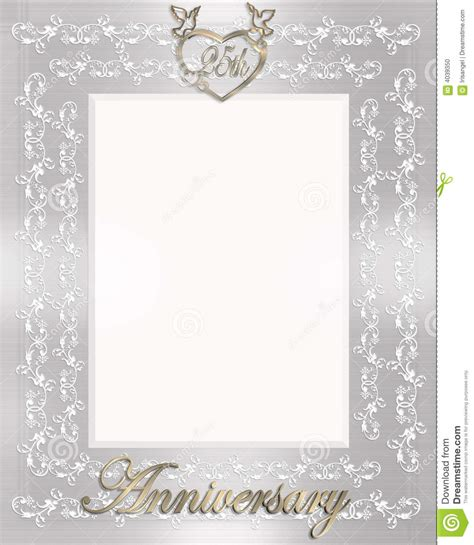 25th Wedding Anniversary Background Hd by 25th Wedding Anniversary Invitation Stock Illustration