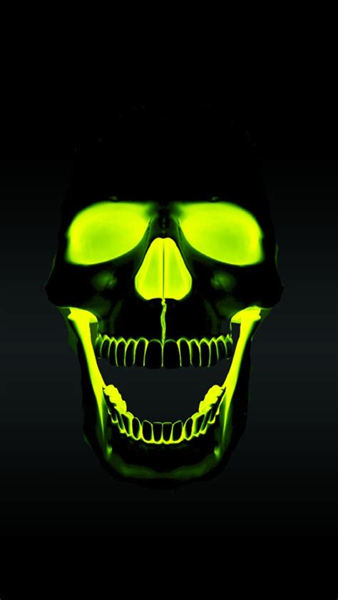 Wallpaper Hd Iphone Skull | green skull hd iphone 5 wallpaper 640x1136