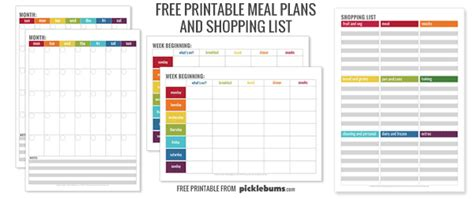 my indian version weekly school lunch planner monthly menu plan printable picklebums