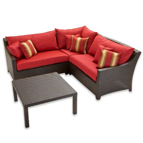 corner patio furniture rst outdoor cantina corner sectional with coffee table set