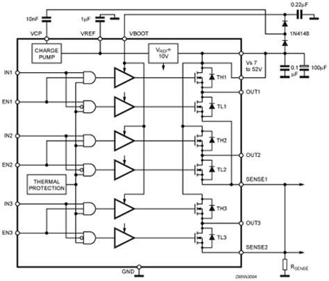 bldc freewheeling diode freewheeling diode translation 28 images l6206 dmos dual bridge driver stmicroelectronics