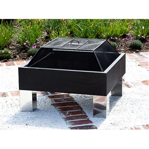 Fire Sense Square Fire Pit 293728 Fire Pits Patio Square Firepits