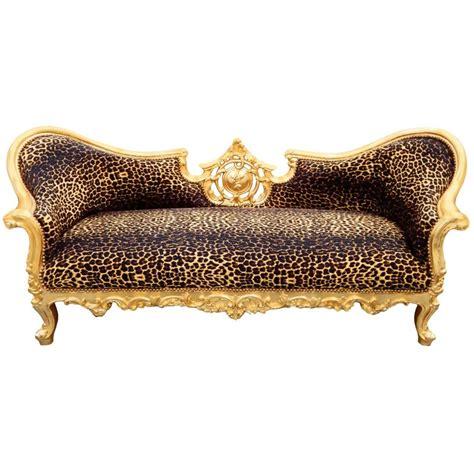 sofa leopard baroque napoleon iii style sofa leopard fabric and gold