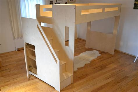 loft bed closet modern loft bed with staircase and storage closet loft