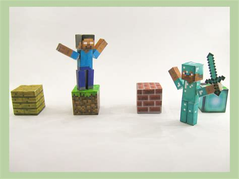 How To Make Minecraft Steve Out Of Paper - how to play paper minecraft 6 steps with pictures wikihow