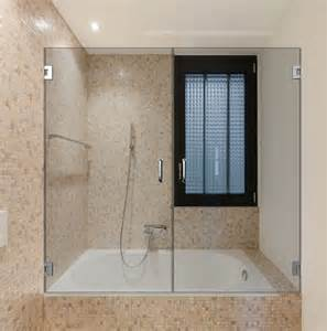swinging shower door dual swinging bathtub doors dulles glass