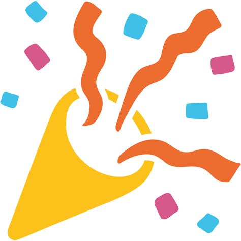 celebration emoji file emoji u1f389 svg wikimedia commons