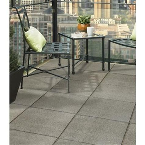 Concrete Patio Blocks 18x18 by 18x18 Inch Envirotile Flat Profile Grey Mt5000698 Home