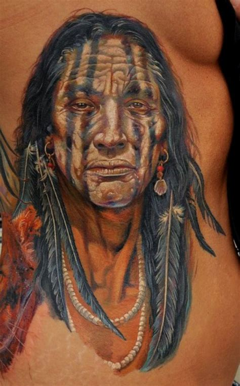 photorealistic tattoo american tribal photorealistic tattoomagz