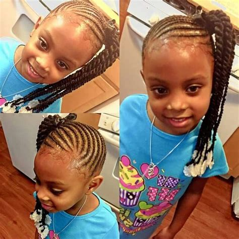 side ponytail child side ponytail braids into twists hair for kids