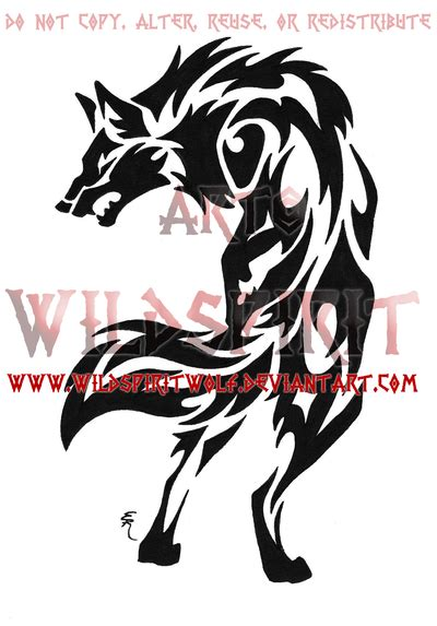 snarling wolf tattoo designs snarling tribal wolf by wildspiritwolf on