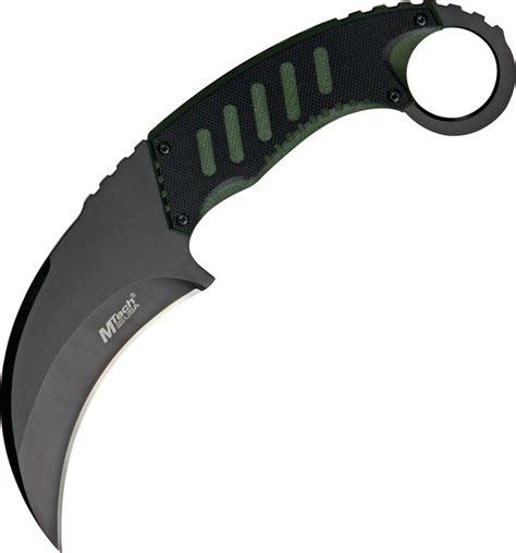 mt665bg mtech tactical karambit neck knife