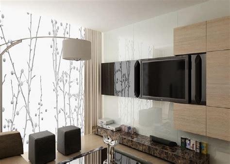 motif keramik dinding ruang tamu interior rumah