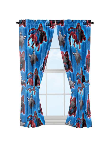 marvel spider man window curtains  piiece