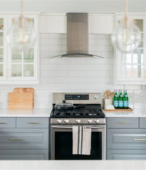 ikea subway tile a gray and white ikea kitchen transformation the